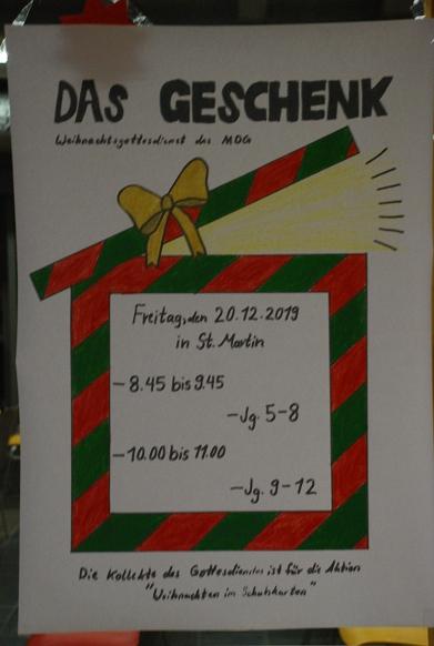 Ankündigung Weihnachtsgottesdienste©MDG-Nienburg