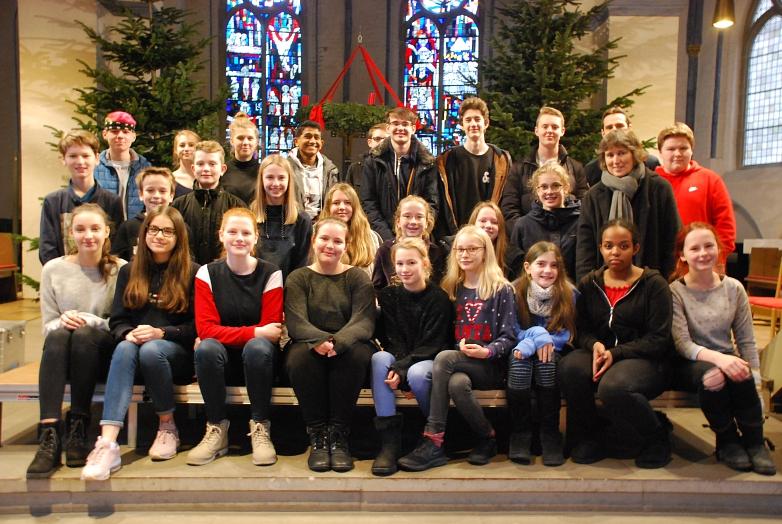 Weihnachtsgottesdienst 2019 Gruppenbild©MDG-Nienburg
