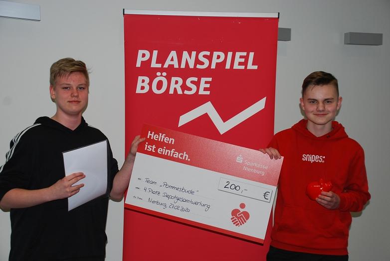 """4. Platz Gesamtdepotwertung Team """"Pommesbude""""©MDG-Nienburg"""