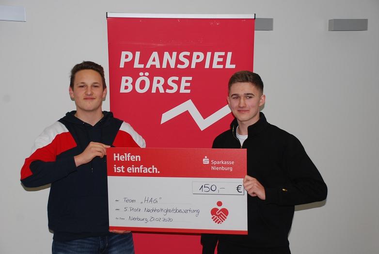 5. Platz Nachhaltigkeit Team HAG©MDG-Nienburg
