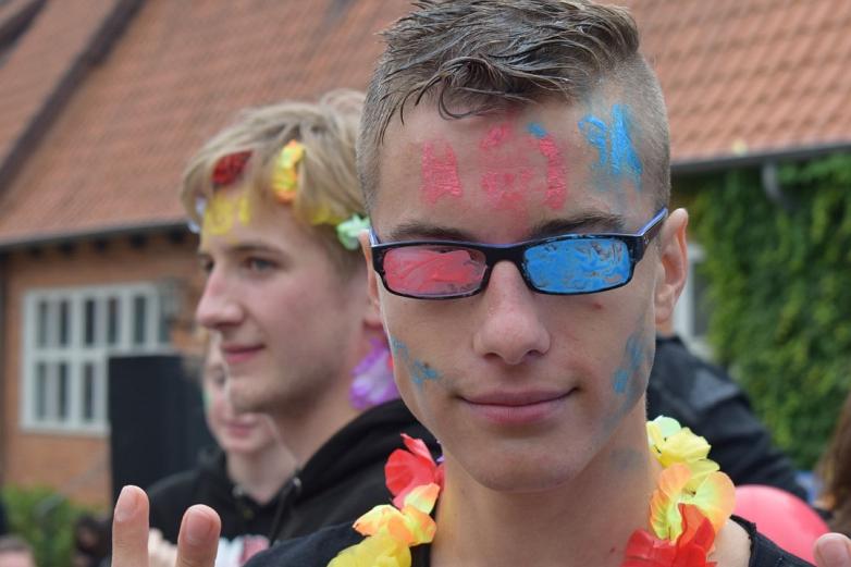 Abiturienten feiern Abistreich©MDG-Nienburg