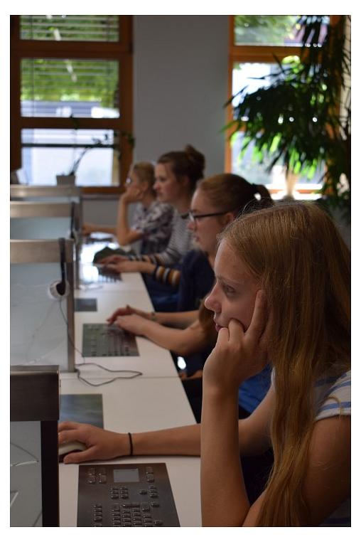 An den Computern herrschte große Konzentration©MDG-Nienburg