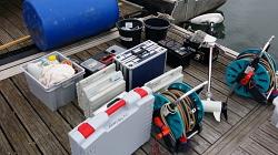 Ausrüstung für See-Experimente
