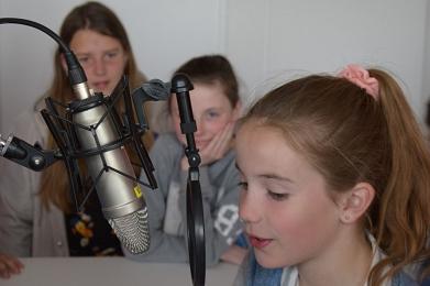 Beim Kurzinterview im Radio Mittelweser©MDG-Nienburg