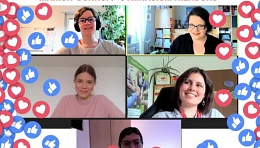 Die Iniative bei einem Online-Meeting
