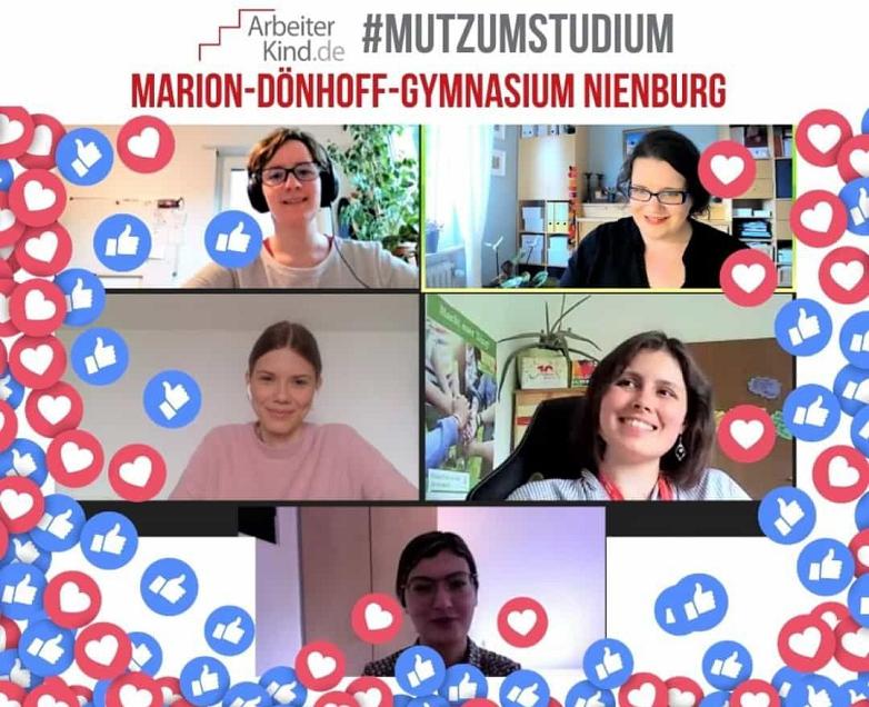 Die Iniative bei einem Online-Meeting©MDG-Nienburg