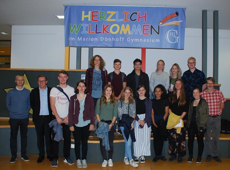 Die Reisegruppe mit ihren GastschülerInnen und Lehrkräften©MDG-Nienburg