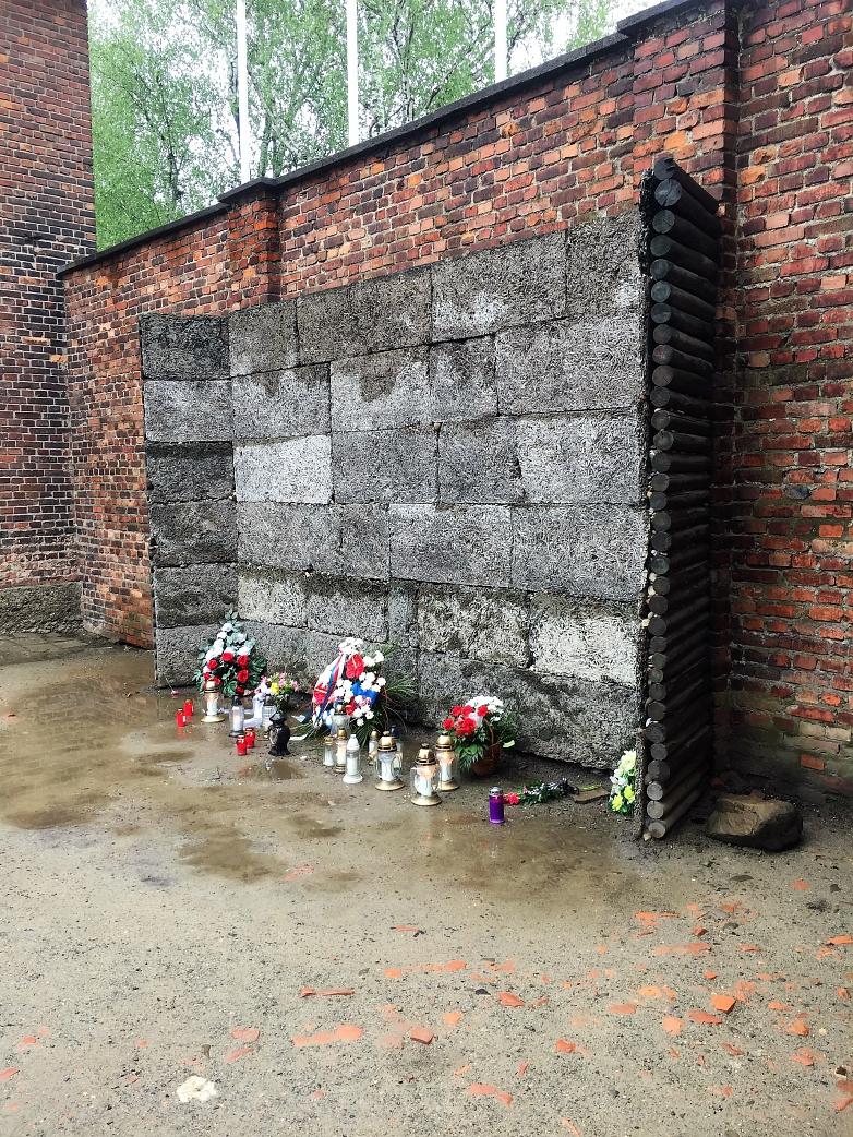 Erschießungswand in Auschwitz©MDG-Nienburg