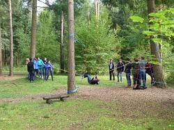 Erstes Schnuppern im Wald