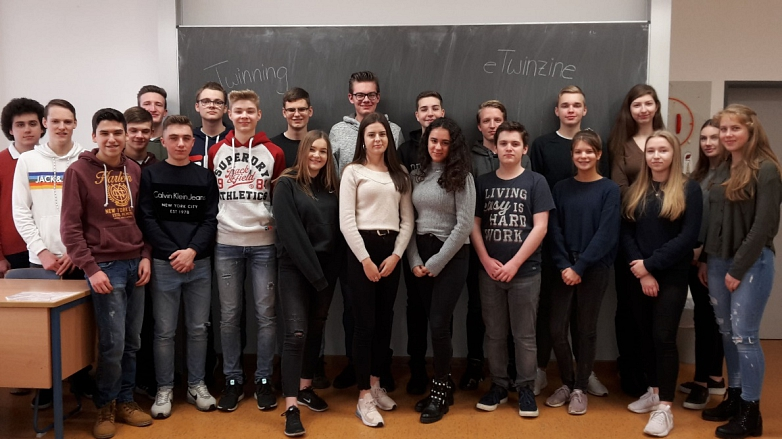 Gruppenfoto der Teilnehmer aus der 11c©MDG-Nienburg