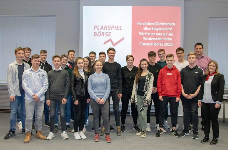 Gruppenfoto Planspiel Börse 2020©MDG-Nienburg