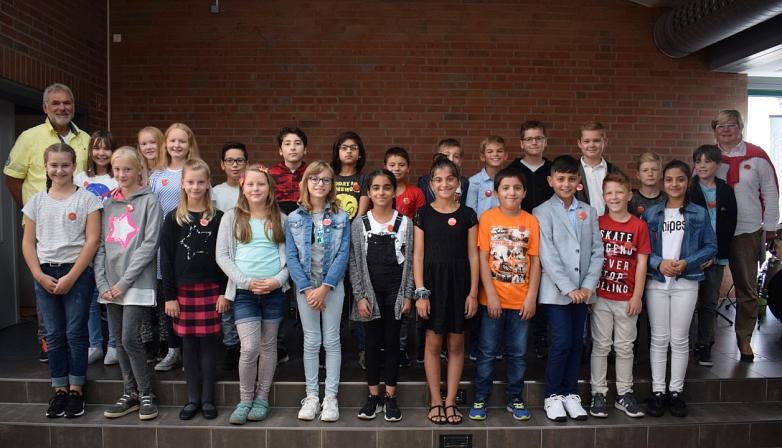 Klasse 5d mit Frau Paczkowski und Herrn Harms©MDG-Nienburg