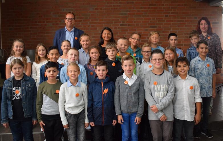 Klasse 5e mit Frau Warkenthin und Herrn Warnecke©MDG-Nienburg
