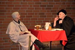 Luther und Melanchthon im Gespräch