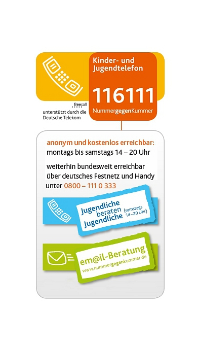Nummer gegen Kummer©DKSB Landesverband Niedersachsen