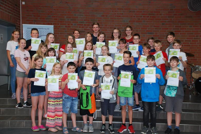 Prämierte beim Jugendwettbewerb Informatik©MDG-Nienburg