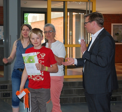 Schulsieger beim Jugendwettbewerb Informatik 2019©MDG-Nienburg