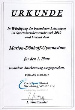 Sportabzeichenwettbewerb 2011