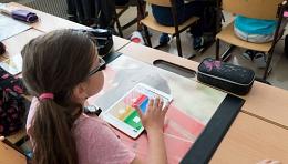 Tablets mit Unterricht