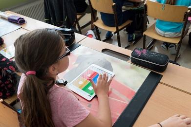 Tablets mit Unterricht©Marion-Dönhoff-Gymnasium