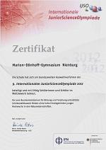 Urkunde-IJSP-2012